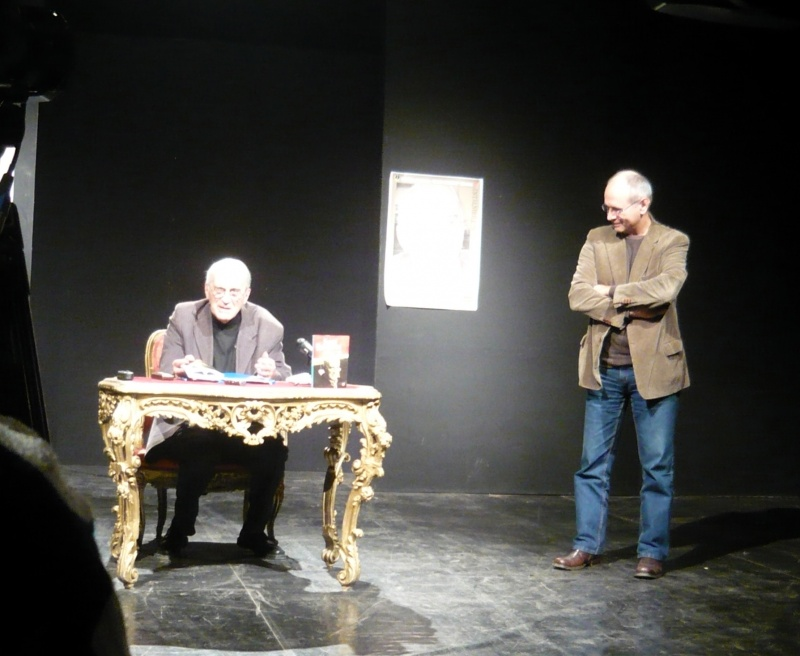 În ring cu Călin Vlasie (dreapta)