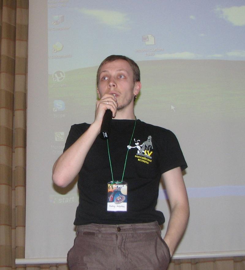 Andrei din Rusia, prezentând candidaţii ruşi la premiile Euroconului