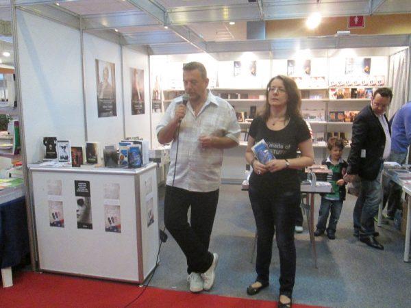 Horia Nicola Ursu, editorul, face laudatio cărţii semnate de Roxana Brânceanu