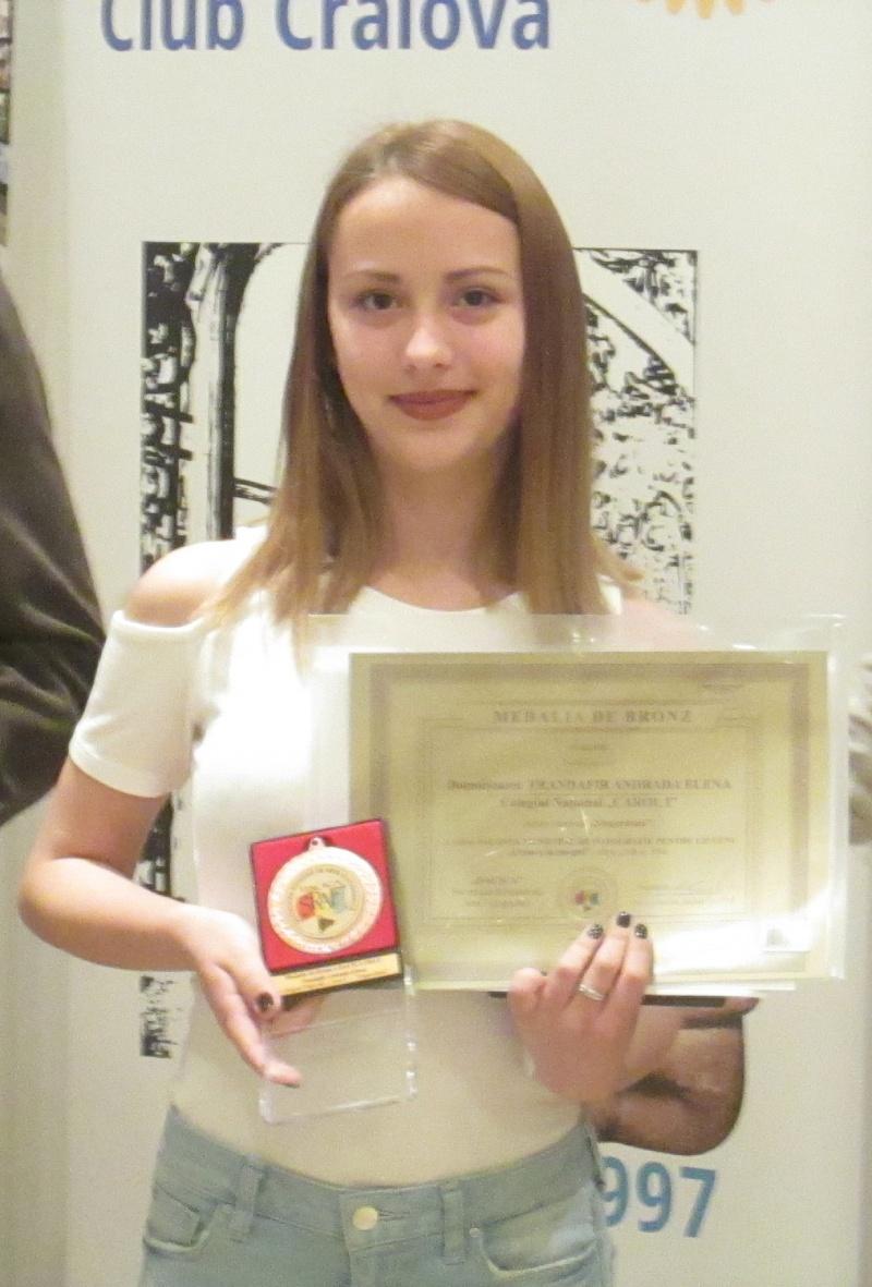Medalia de Bronza DACICA SRAF: Andrada Elena Trandafir