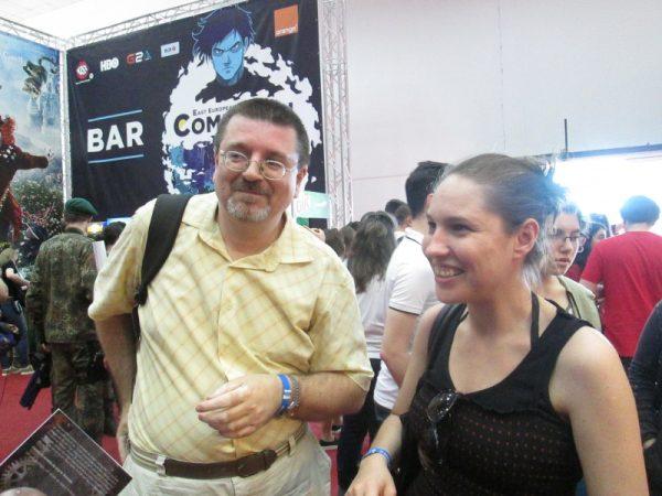 Florin Pîtea, scriitor SF, şi Andreea Sterea, director Editura Crux