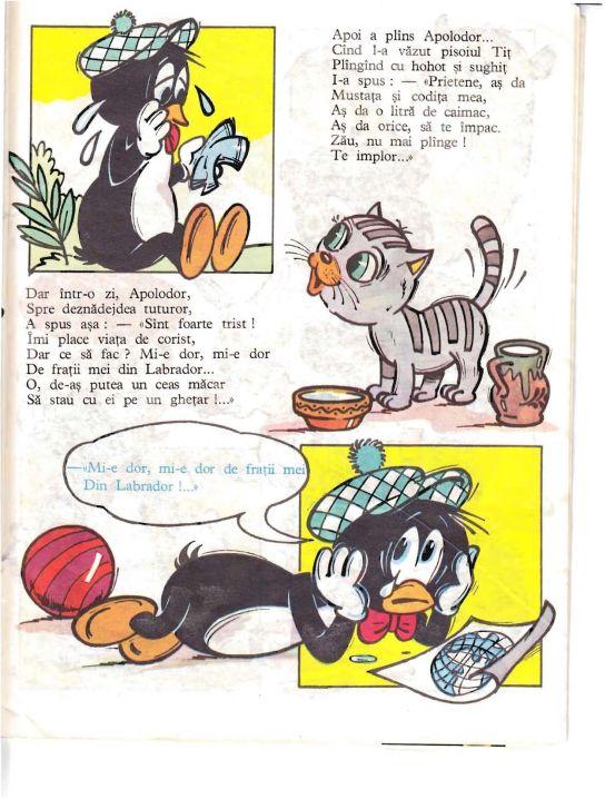 """""""Apolodor, Un Pinguin Calator"""" cu Ilustratii de N. Nobilescu, Editura Ion Creangă, 1988"""