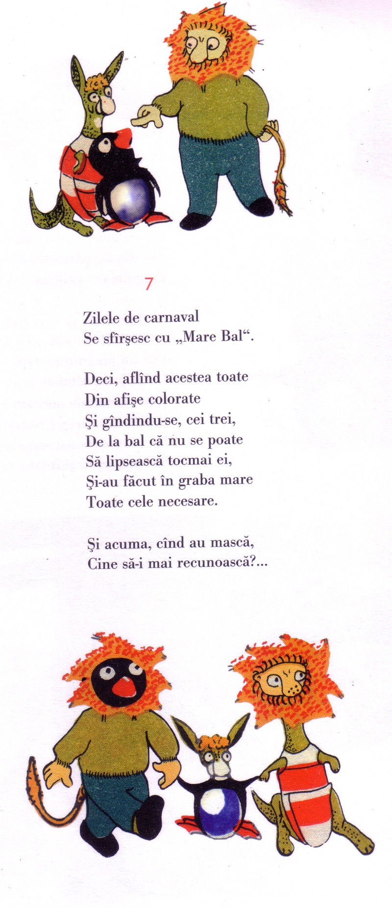 "Aceeaşi ""Grădinarii"" - text şi desene: Gellu Naum,de data asta varianta din volum."