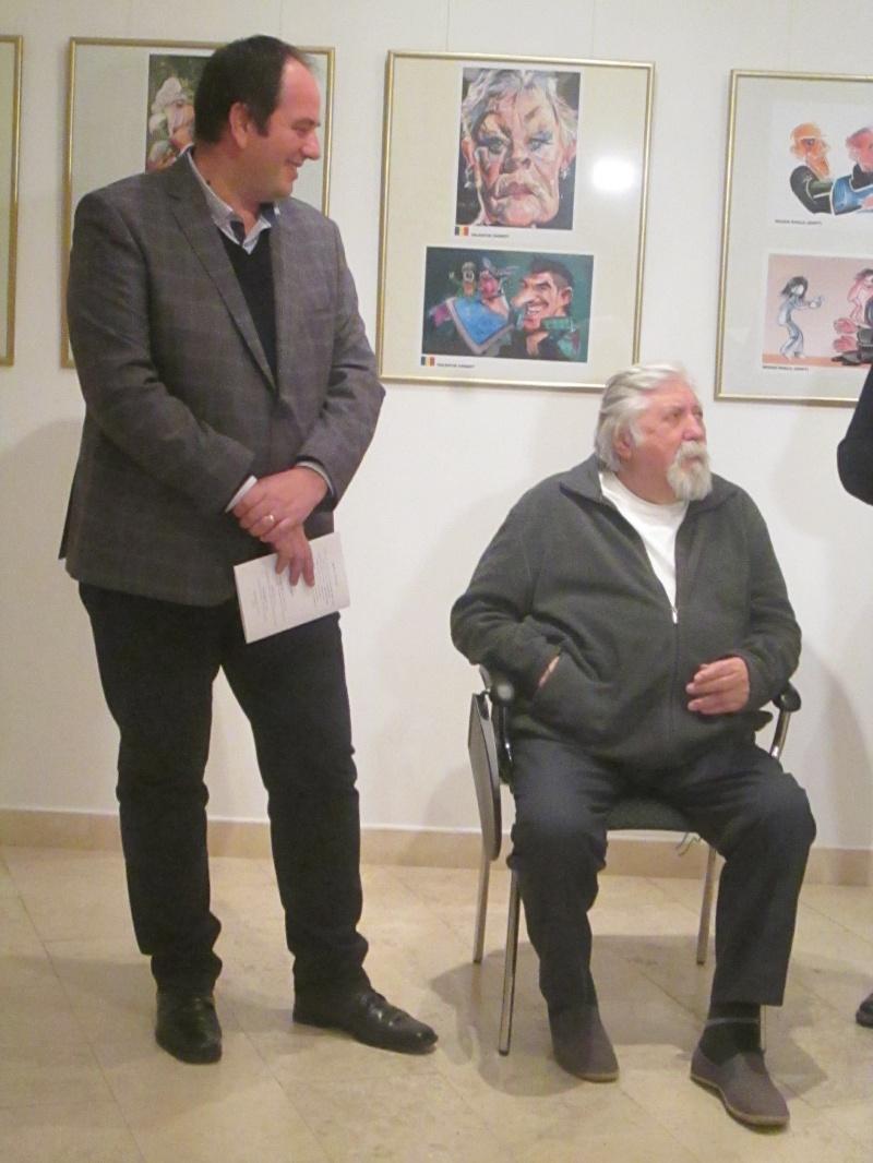 Florin Ridiche şi Gabriel Bratu, la parastasul caricaturii.