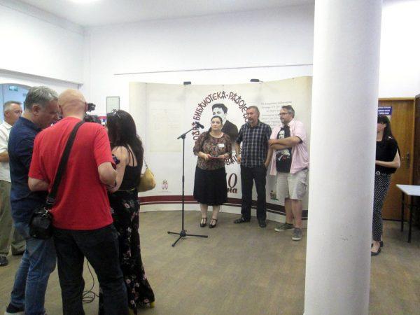 Deschiderea oficială a expoziţiei Spirou.