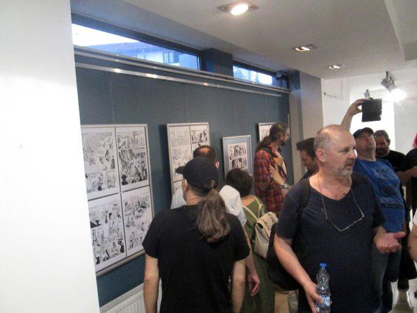 """Expoziţia """"Istoria benzii desenate belgiene"""", deschisă la Muzeul naţional din Leskovac."""