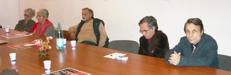 În dreapta, universitarul George Popescu şi poetul Ion Maria