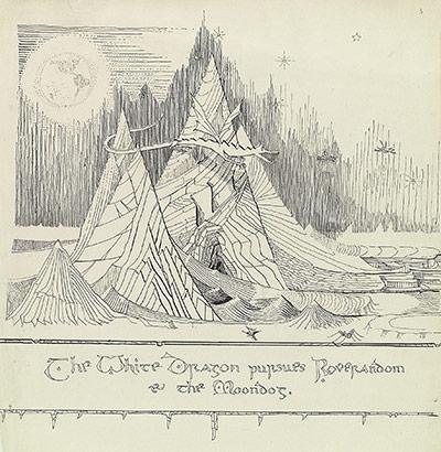 Tolkien White Dragon